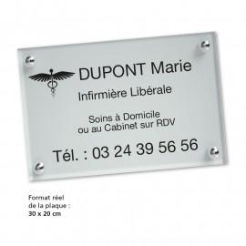 Plaque PVC transparente