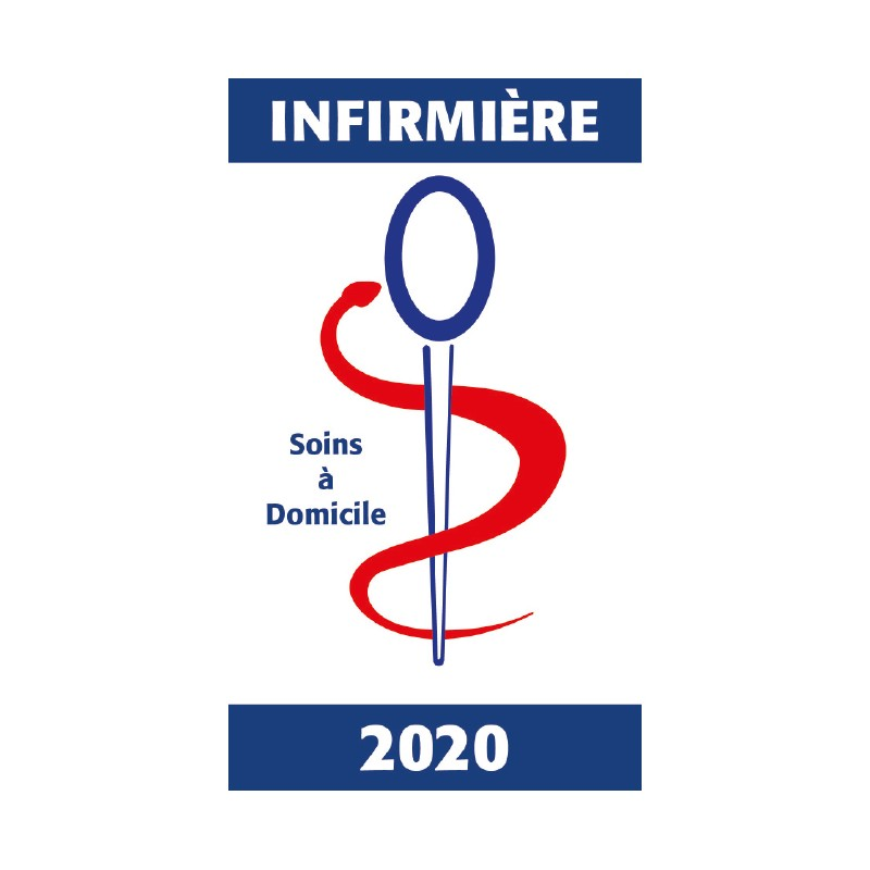 Caducée Vitrophanie Infirmière 2020