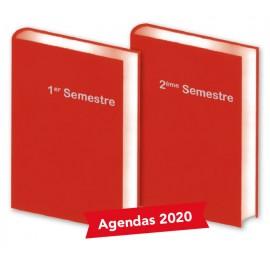 Lot de 2 Agendas semestriels Flamme 2020