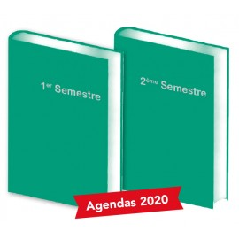 Lot de 2 Agendas semestriels Vert 2020