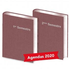 Lot de  2 Agendas Semestriels Bordeaux 2020