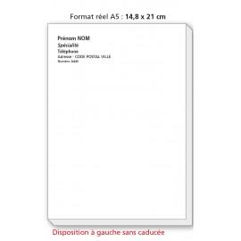 Bloc Têtes de lettres Ordonnances A5  / texte noir à gauche sans caducée