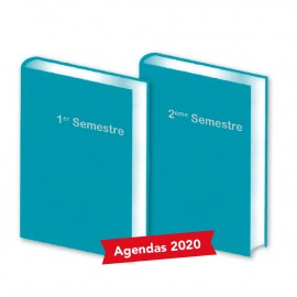 Lot de 2 Agendas Semestriels 2020 Lagon