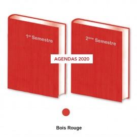 Lot de  2 Agendas Semestriels Rouge 2020