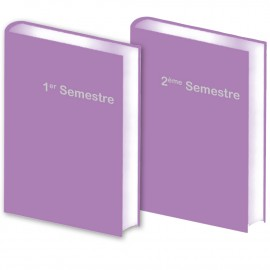 Lot de 2 Agendas Semestriels 2021 Purple Réservation