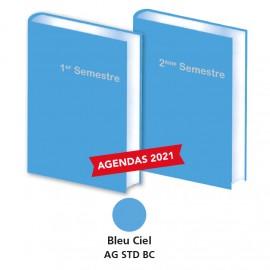 Lot de 2 Agendas Semestriels 2021 Bleu Ciel Réservation
