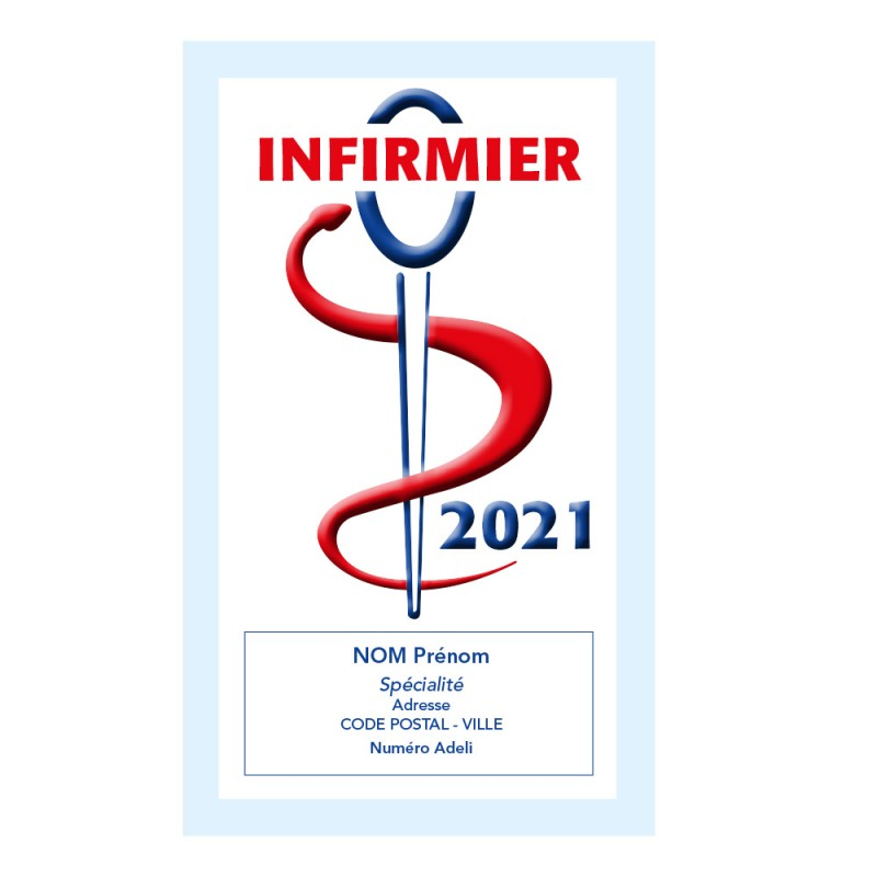 Caducée Infirmier sans soins 2021 Personnalisé