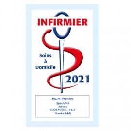 Caducée Infirmier avec soins 2021 Personnalisé