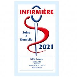 Caducée InfirmIère avec soins 2021 Personnalisé