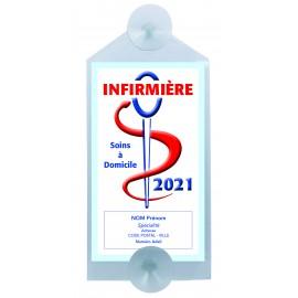 Caducée Infirmière avec ventouses 2021 Personnalisé