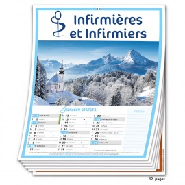 Calendrier 12 Pages Infirmière 2021 Promo