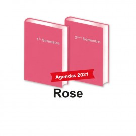 Lot de 2 Agendas Semestriels 2021 Rose