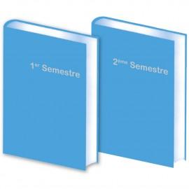 Lot de 2 Agendas Semestriels 2021 Bleu Ciel Promo