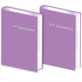 Lot de 2 Agendas Semestriels 2021 Purple Réservation