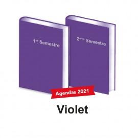 Lot d'Agendas Semestriels 2021 Violet