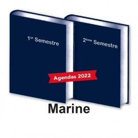 Lot de 2 Agendas Semestriels 2022 Marine Réservation