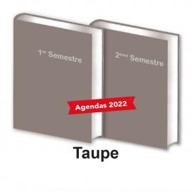 Lot de 2 Agendas Semestriels 2022 Taupe Réservation