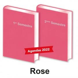 Lot de 2 Agendas Semestriels 2022 Rose Réservation