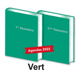 Lot de 2 Agendas Semestriels 2022 Vert Réservation