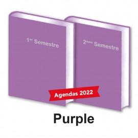 Lot de 2 Agendas Semestriels 2022 Purple Réservation