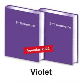 Lot de 2 Agendas Semestriels 2022 Violet Réservation