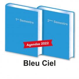 Lot de 2 Agendas Semestriels 2022 Bleu Ciel Réservation
