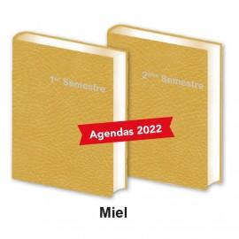 Lot de 2 Agendas Semestriels Miel 2022 Réservation