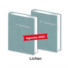 Lot agendas semestriels lichen