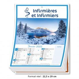 Calendrier 12 Pages Infirmière 2022
