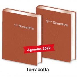 Lot de 2 Agendas Semestriels Terracotta 2022 Réservation