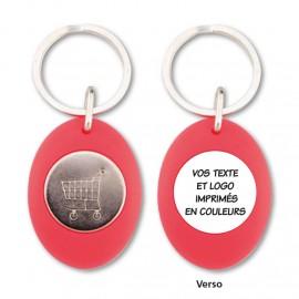 Porte clés jeton couleur