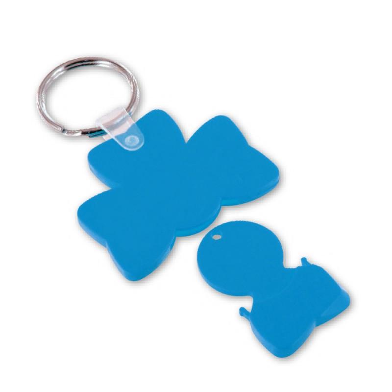 Porte-clés jeton trèfle