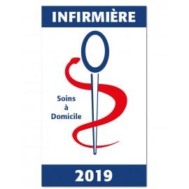 Caducée Vitrophanie Infirmière 2019