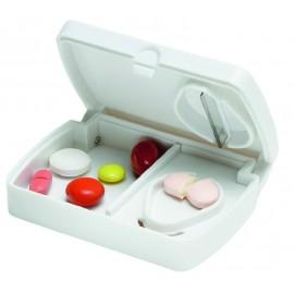 Pilulier blanc avec coupe pilule
