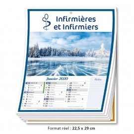 Calendrier 12 Pages Infirmière 2020
